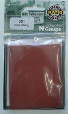 Brick Walling - Ratio 301 N gauge Building & accessories - free post