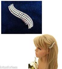Wave design cristal perle cheveux clip adhérence mariée demoiselle d'honneur bal cheveux bijoux
