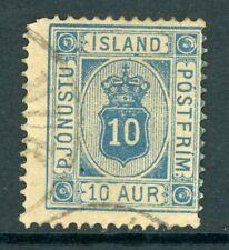 Iceland 1876 Official 10a Scott #O6 VFU N976