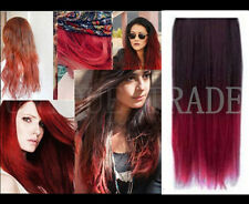 New Hot Ombre Colorful Clip In Hair Piece Hair Extensions-Black to Red