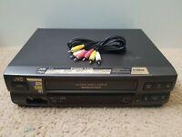 JVC HR-J430U 4 Head Hi-Fi VHS VCR Player Video Cassette Recorder With Cables