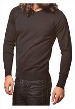 Bravesoul Outlet Kodaline V neck jumper BS113 Black Large