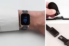 GPS-Track WatchPro gold: GPS-Uhr mit Spezial-Armband   Senioren-Ortung incl.App