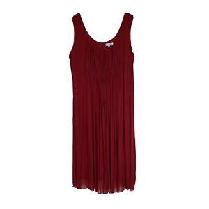 Dream Diva Women's Plus Size 22 Empire Party Dress in Cherry Red Full Length