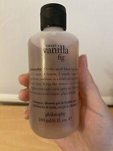 PHILOSOPHY - Sweet Vanilla Fig 3 in 1 Shower Gel 180g New, Rare