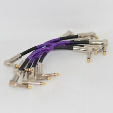 6 X  21cm Guitar Patch Cables Effects  Guitar Cable Wire Effect Pedal Cable