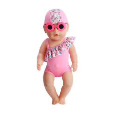 Babies Born 3 Piece Th Clothes + Glasses Baby Clothes For 43 Cm, The Child's