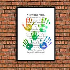 a mothers poem teacher school thankyou a4 glossy poster Print picture 2 UNFRAMED