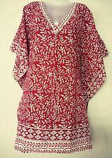 Cotton Hand Block Print Swim wear Short Maxi Kimono Kaftan Cover Up Abaya Bikini