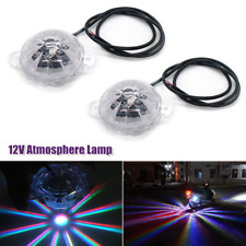 2PCS Car Motorcycle Colored Chassis Lights Underglow Under Body Atmosphere Lamp