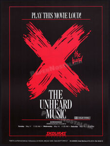 X  the band: THE UNHEARD MUSIC__Original 1986 Trade print AD / poster__punk rock
