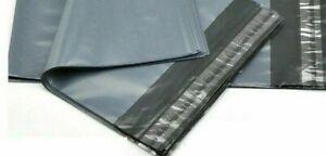 "10 x 14"" Grey Mailing Bags Strong Self Seal Poly Postal Post Waterproof Pk of 50"