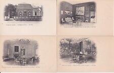 Lot 4 cartes postales anciennes CHANTILLY maisons de silvie 2