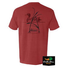 NEW AVERY OUTDOORS A-CATTAIL LOGO S/S T-SHIRT BRICK RED XL