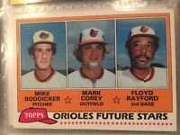 1981 topps mike boddicker future stars