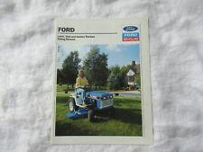 Ford New Holland YT LGT LT R lawn garden tractor brochure