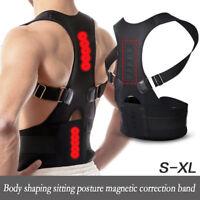 Magnetic Therapy Posture Corrector  Back Pain Belt Band Brace Shoulder Support