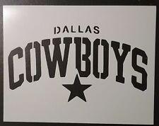 "Dallas Cowboys 11"" x 8.5"" Custom Stencil FAST FREE SHIPPING"