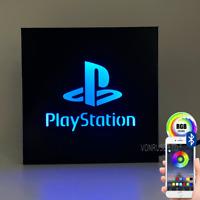 Custom Play station USB LED Light Up Sign - Bluetooth controlled via free app