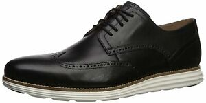Cole Haan Men's Original Grand Shortwing Oxford Shoe-Black Leather/White