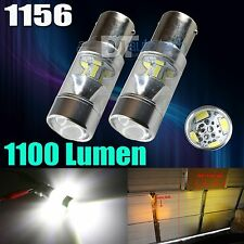 2X 1400 Lumens 1156 High Power 2538 Chip LED White Reverse Back Up Lights Bulbs