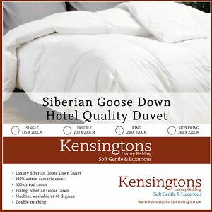 100% Siberian Goose Down Duvet Egyptian Cotton Cover Quilt Comforter Bedding Set