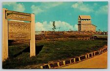 Groundhog Mountain Overlook Fence Blue Ridge Parkway, Virginia Postcard Unused