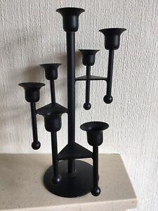 7 candle black candelabra