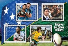 SOLOMON IS 2013 RUGBY in Solomon Islands SHEET 4 values Perforated MNH