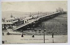 (w12d9-272) The Grand Pier, WESTON SUPER MARE c1910 Unused VG