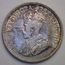 1912 George Silver 5 Cent Small Nickle Canadian Canada Coin MS Five Cents