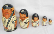 NY Yankees Nesting Eggs Set of 5 All- Star Players
