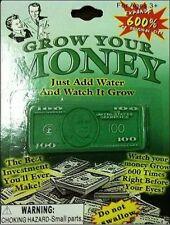 GROW MONEY WITH WATER -  FUN NOVELTY TOY  + 1 million bill bonus