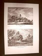 Agrigento Tempio di Ercole e Capitello Giganti Voyage Pittoresque di Saint Non