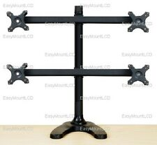 """EZM Deluxe Quad LCD Monitor Mount Stand Free Standing - up to 28""""( 002-0021)"""