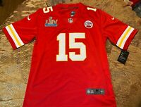 Patrick Mahomes #15 KC Chiefs Red Super Bowl 54 Jersey Medium