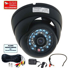 Audio Dome CCD Security Camera Outdoor Infrared Day Night Vision Wide Angle mcs