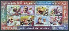 Indien India 2014 Musiker Music Musikinstrumente ZD-Kleinbogen Postfrisch MNH