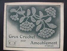 VINTAGE FRENCH PATTERN BOOK - CROCHET FURNISHINGS - 1er  Album. 1920s