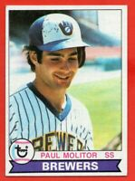 1979 Topps #24 Paul Molitor EX-EXMINT+ HOF Milwaukee Brewers FREE SHIPPING