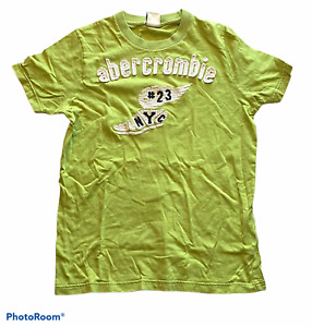 Children's ABERCROMBIE & FITCH Green T-Shirt Top Short Sleeve Boys Size Large L