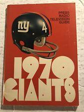 1970 NEW YORK GIANTS Official MEDIA GUIDE Yearbook TARKENTON Morrison GOGOLAK