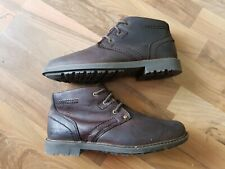 Caterpiller Carsen Mid Pebble Lace Up Boots size 6uk in waxed brown leather