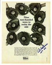Al Kaline-reprint of autographed photo - Wilson Glove AD and 10 Golden Gloves