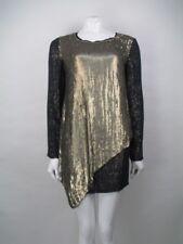 3.1 Phillip Lim Sequin Silk Gold Dress Size 4 US 8 UK BNWTS