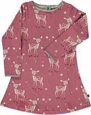 Smafolk Langarm Kleid rosa mit Bambi  und Glitzer 4-5 Jahre (Gr.104-110)!!Neu!!