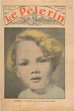 Portrait Enfant Blond Style Bébé Cadum Candeur Bambin Catholique 1936