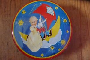 Vintage Wilkins Toffee Tin ' Dreamland' with Mabel Lucie Attwell Style Baby