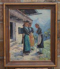Gemälde Ölbild Ölbilder Rahmen Barock Bilder Mädchen Bild Ölgemälde G01069