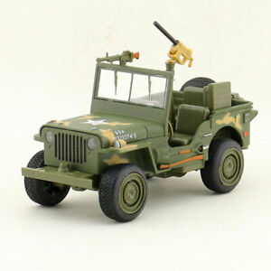 1:24 Willys WW II Jeep Off-road Military Vehicle Model Car Diecast Toy Light Kid